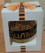 Флокированный елочный шар с логотипом в индивидуальной упаковке